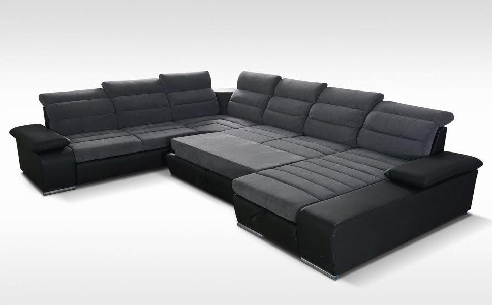 Polstergruppe u form latribuna for Sofa u form mit bettfunktion